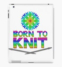 Born To Knit Rainbow iPad Case/Skin