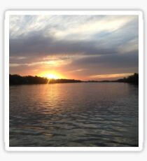 Sunset on the Parana River Sticker
