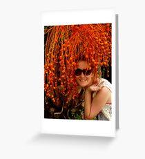 Orange Seed Hair Greeting Card
