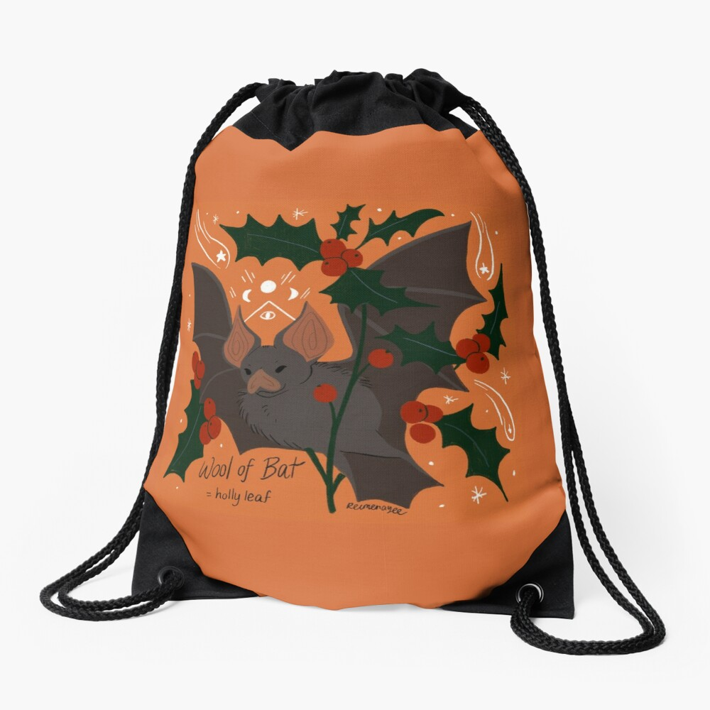 Witch's Brew: Wool of Bat Drawstring Bag
