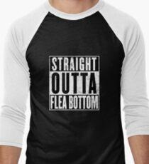 Straight Outta Flea Bottom Men's Baseball ¾ T-Shirt
