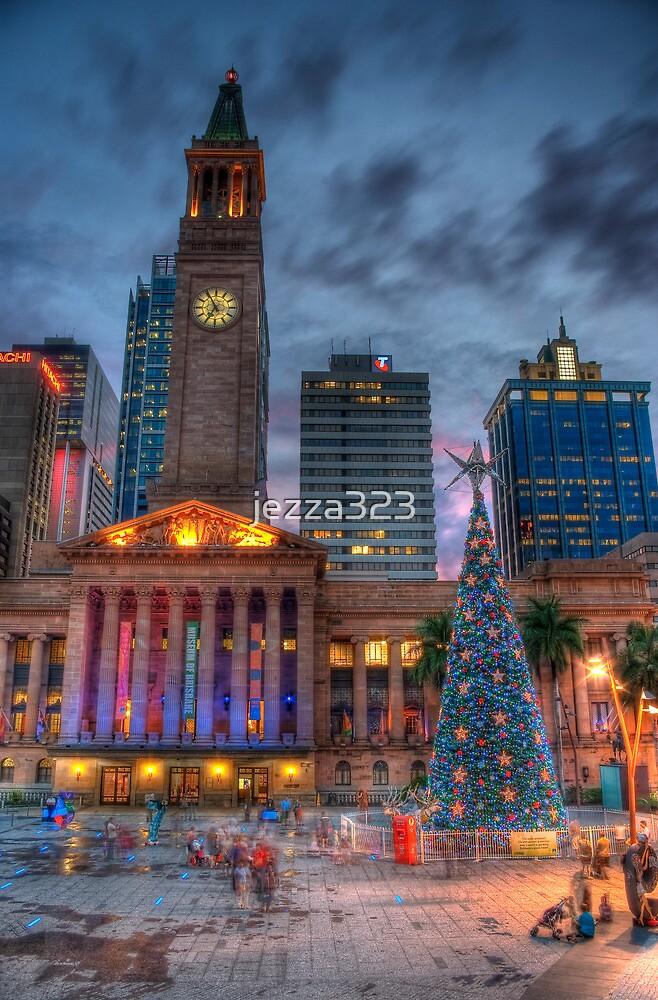 Brisbane City Hall - Christmas At Dusk by jezza323
