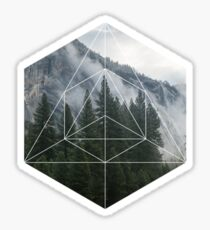 Geometric Forest Sticker