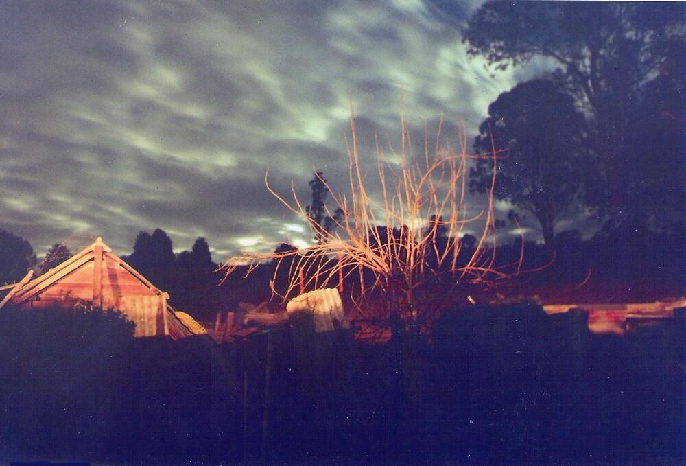 night lights ( old bonalbo) by david  stiglmayer