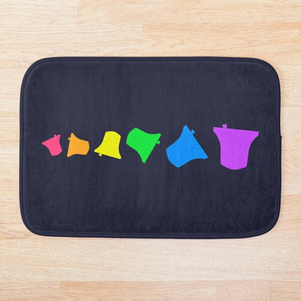 Bell Ringing - RAINBOW BELLS - Horizontal Bath Mat
