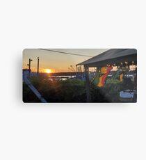 Sunset at Pilot House Restaurant & Lounge Metal Print