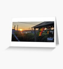 Sunset at Pilot House Restaurant & Lounge Greeting Card