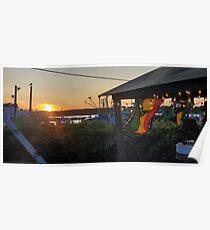 Sunset at Pilot House Restaurant & Lounge Poster