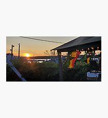 Sunset at Pilot House Restaurant & Lounge Photographic Print