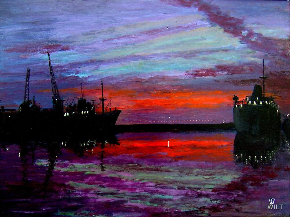 West Float at Sundown by WILT