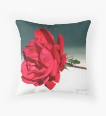 Portrait Of A Rose Throw Pillow