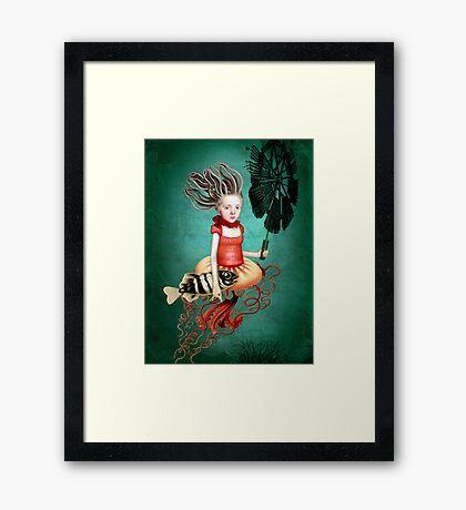 Die kleine Meerhexe Framed Print