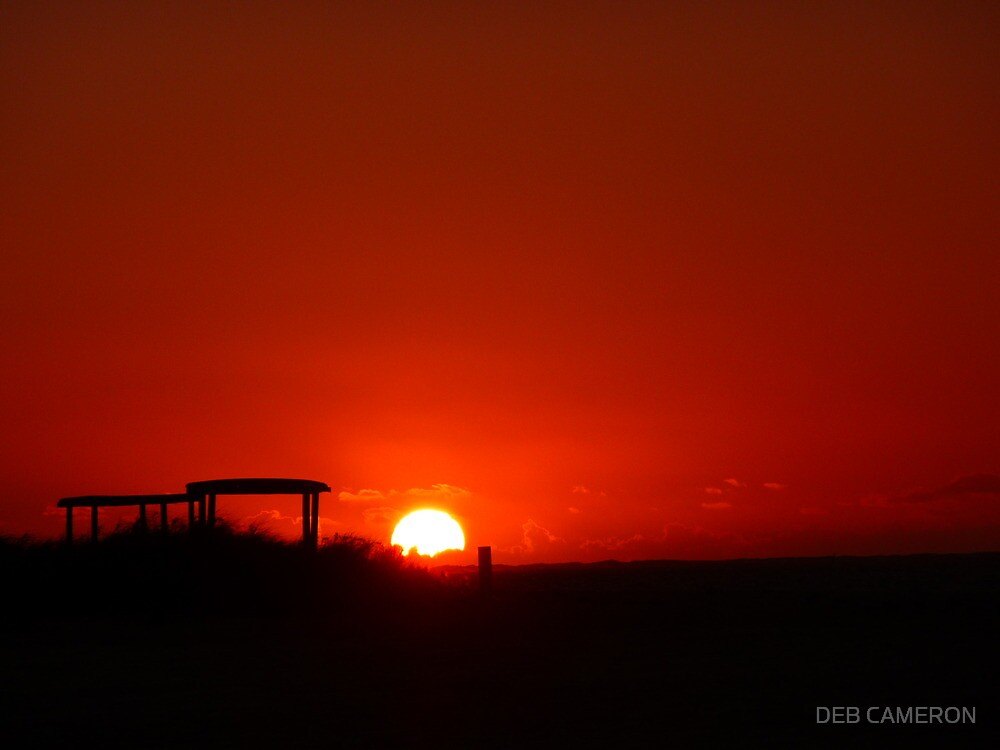 Coral Bay Sunset by DEB CAMERON