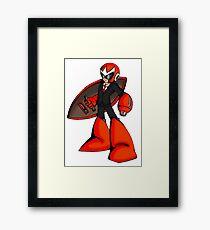 Protoman in a black tux  Framed Print