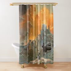 The Shadow of the Torturer - Vintage Sci-Fi  Art Shower Curtain