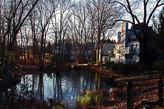 The Pond at Norwich Inn by Kenric A. Prescott