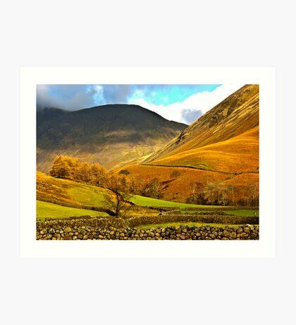 Autumn in Wasdale - Lake District Art Print