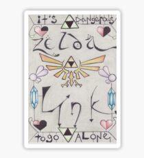 Link ♥ Zelda Sticker
