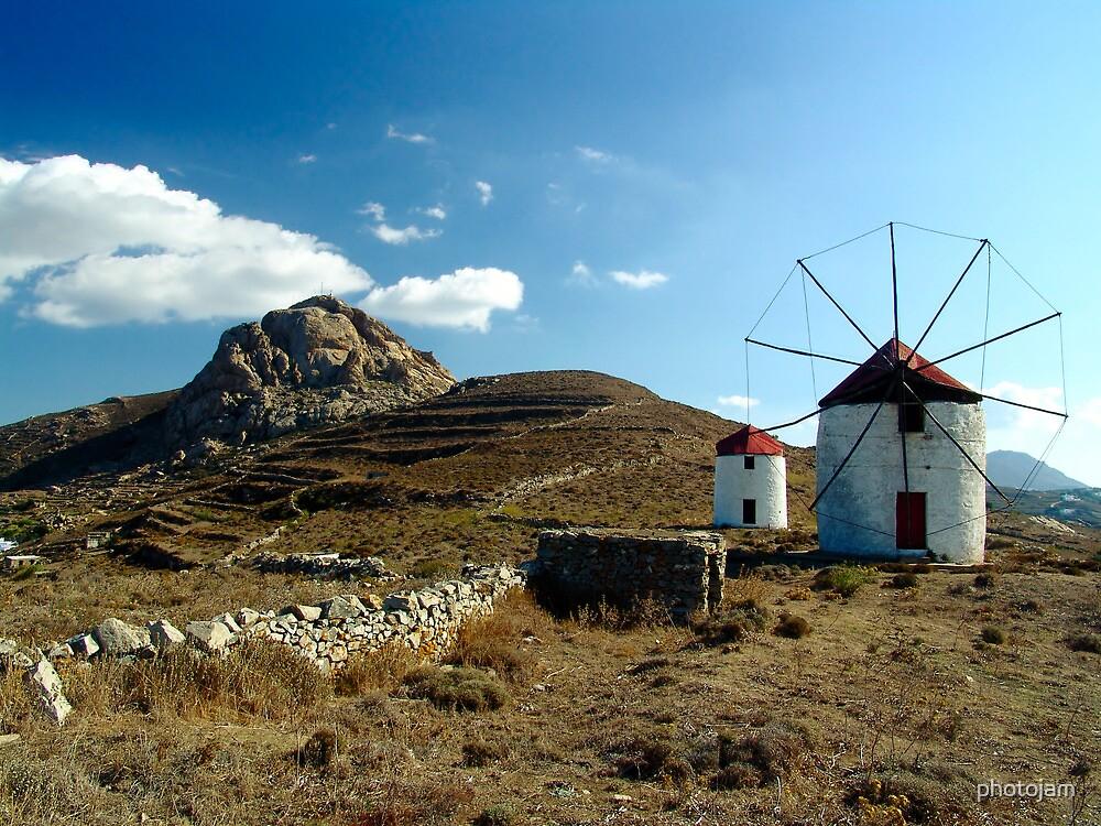 Wind mills of Tinos by photojam