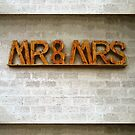 Rustic Mr and Mrs Wedding Sign  by TerryArts
