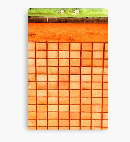 Abstract wall with squares Canvas Print