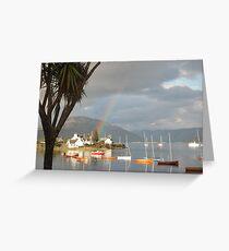 A Plockton Rainbow - Scottish Highlands Greeting Card