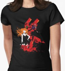 Evangelion Unit-02 Womens Fitted T-Shirt