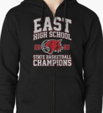 East High School State Basketball Champions Zipped Hoodie