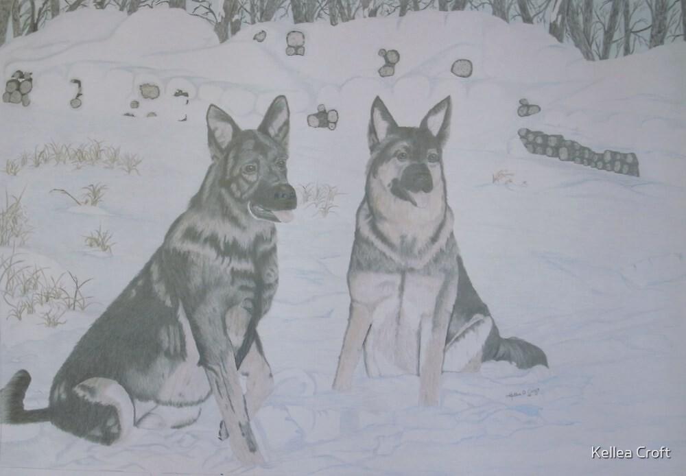 Snow Shepherds by Kellea Croft