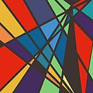 Abstract Colorful Triangle by JoannieKayaks