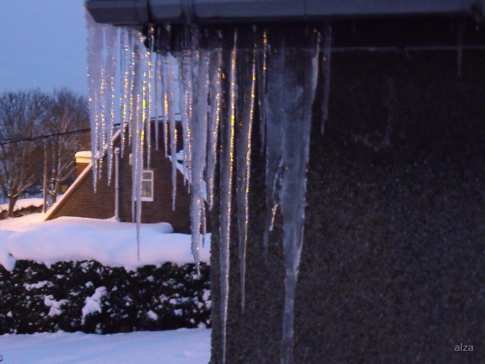light in the icicles by ANDREW BARKE