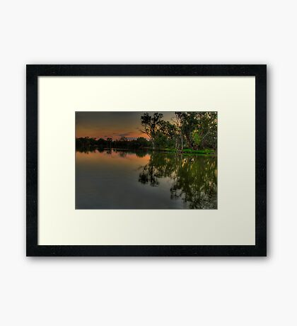 River Meditations , Horseshoe Lagoon Murray River ,Albury NSW - The HDR Experience Framed Print