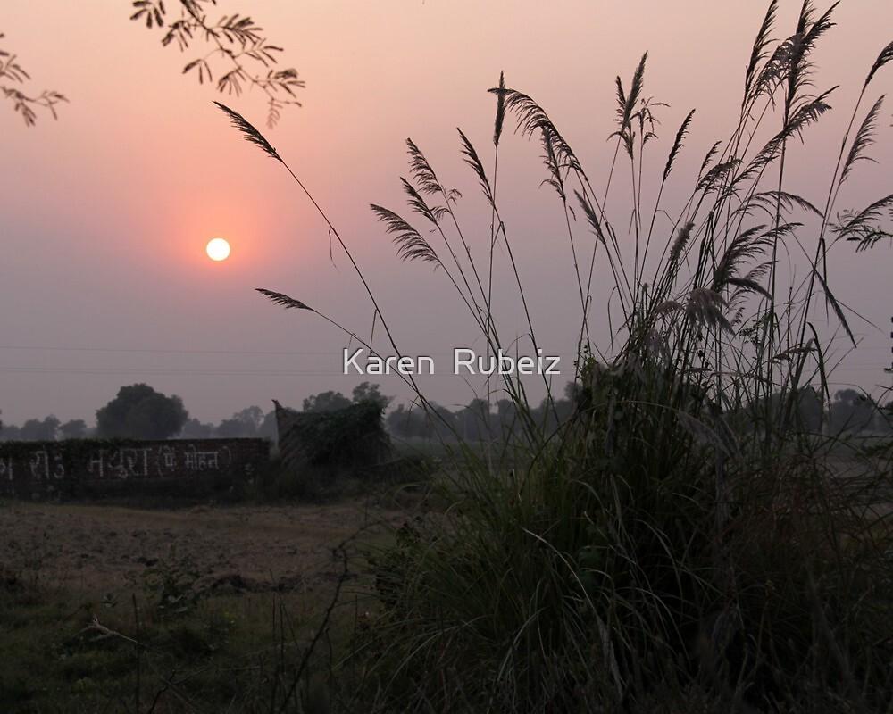 India sunset by Karen  Rubeiz