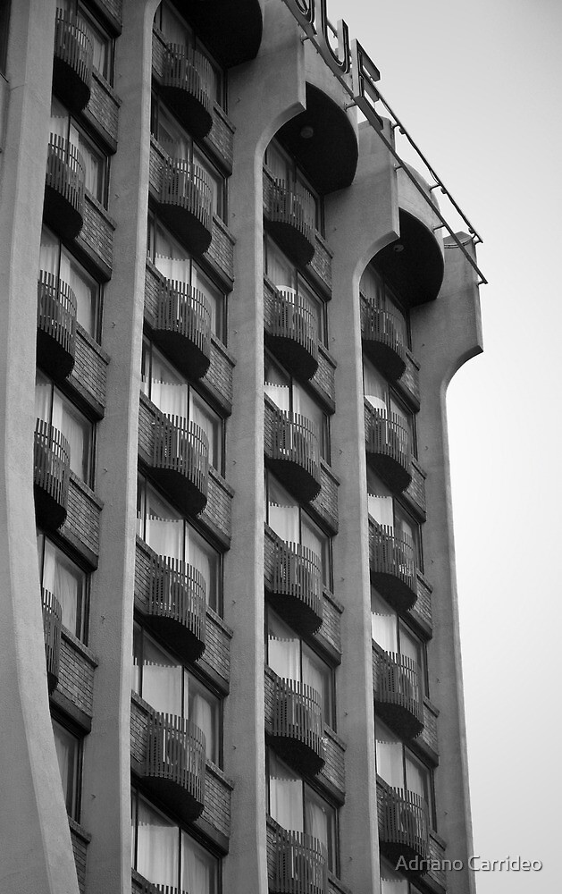 Building b/w by Adriano Carrideo
