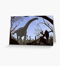 Futalognkosaurus dukei, a Cretaceous sauropod dinosaur Greeting Card