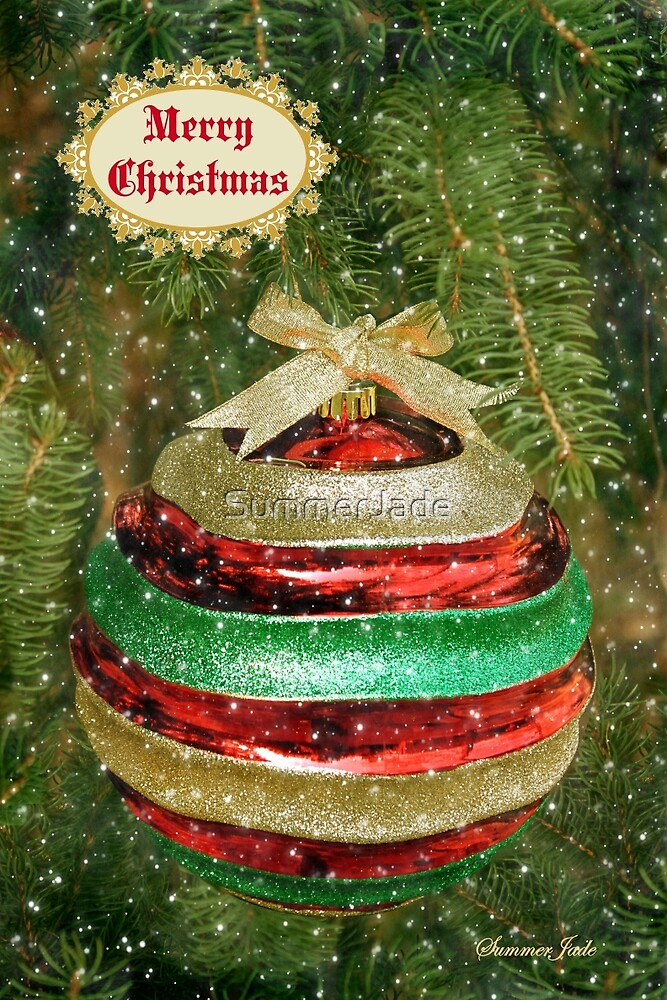 One Big Christmas Bauble ~ in Snow by SummerJade
