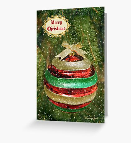 One Big Christmas Bauble ~ in Snow Greeting Card