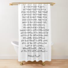 Man In The Arena Theodore Roosevelt Quote Shower Curtain