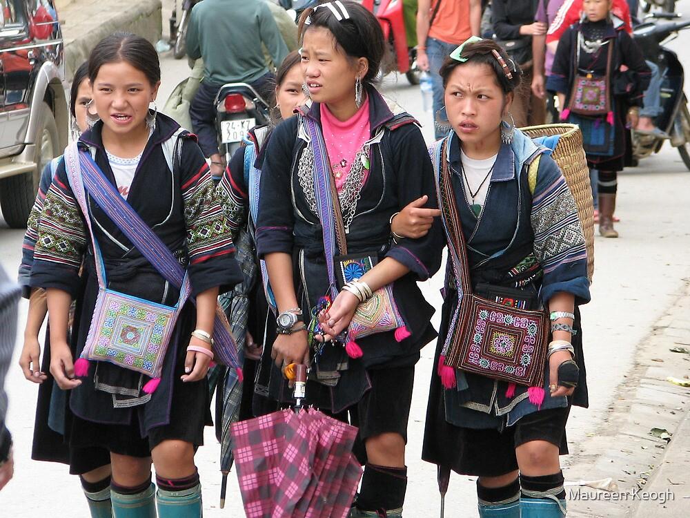 Sapa, Vietnam - Young  Hmong girls by Maureen Keogh