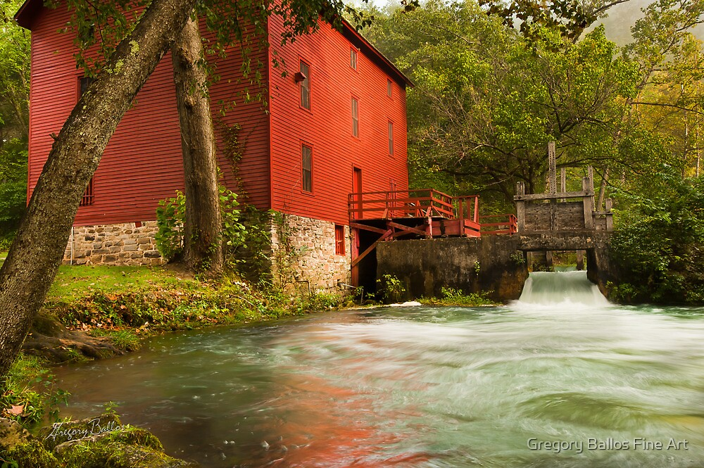 Alley Spring Grist Mill  by Gregory Ballos
