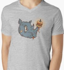 Rhino Burger YUM! V-Neck T-Shirt