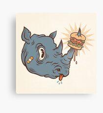 Rhino Burger YUM! Metal Print