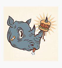 Rhino Burger YUM! Photographic Print
