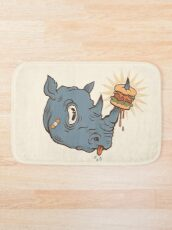 Rhino Burger YUM! Bath Mat