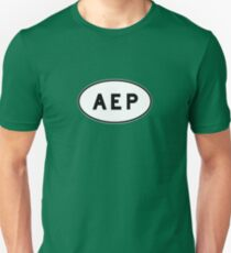 Euro Sticker - AEP - Aeroparque Jorge Newbery Unisex T-Shirt