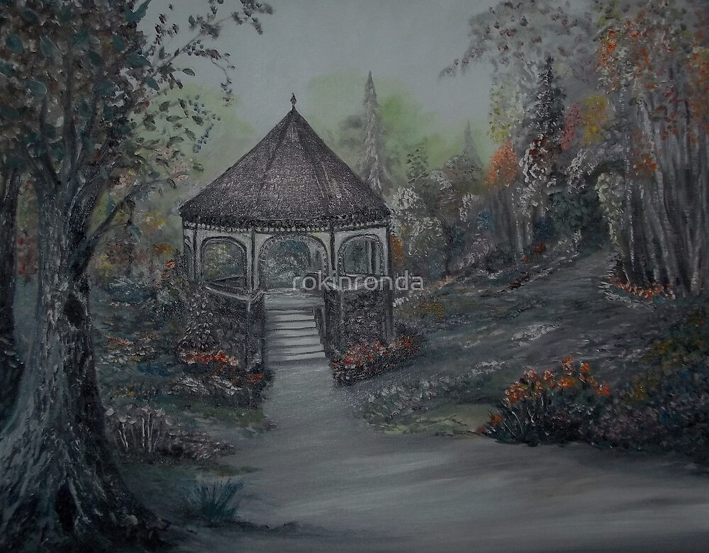Gazebo in the Spring Garden by rokinronda