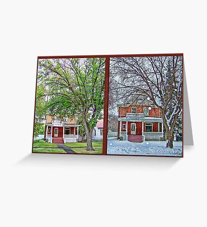 Two Seasons Greeting Card