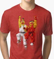 Sesame Street Fighter: Beryu & Kernie Tri-blend T-Shirt