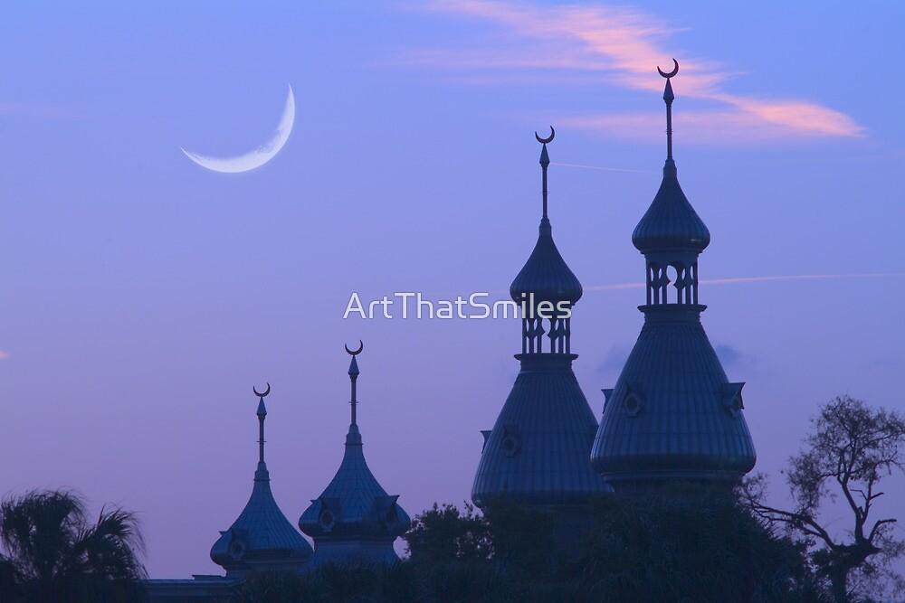 """Crescent Moons"" - University of Tampa Minarets by ArtThatSmiles"