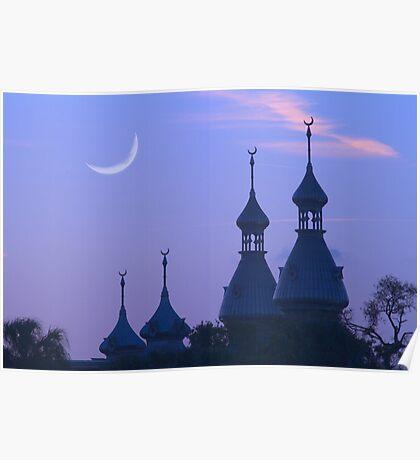 """Crescent Moons"" - University of Tampa Minarets Poster"